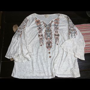 Style & co peasant blouse 2x